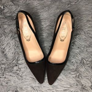 Tods | Brown Suede Heels Size 38 / US 8